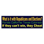 Republicans and Elections Bumper Sticker