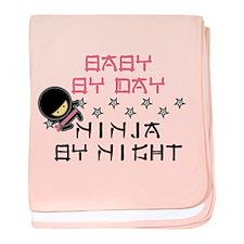 Baby Ninja Pink baby blanket