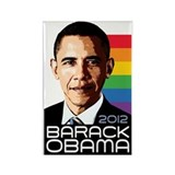 Obama Pride Rainbow Rectangle Magnet