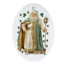 Irish Santa Oval Ornament
