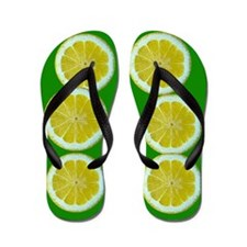 Fruity Lemon Flip Flops