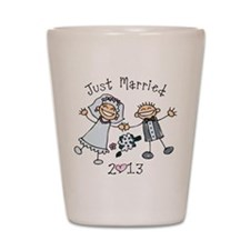 Stick Just Married 2013 Shot Glass