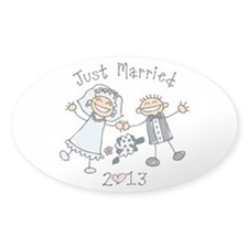 Stick Just Married 2013 Decal
