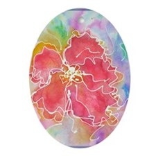 Flower! Bright floral art! Ornament (Oval)
