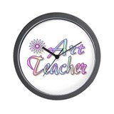"""Art Teacher Rainbow"" Wall Clock"
