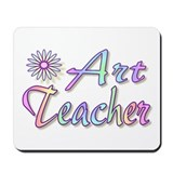 """Art Teacher Rainbow"" Mousepad"