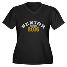 Senior Class of 2016 Women's Plus Size V-Neck Dark