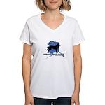 Rescue Logo Women's V-Neck T-Shirt