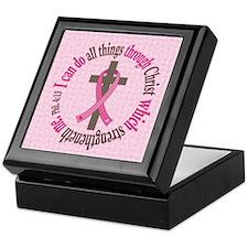 Phil 4:13 Breast Cancer Keepsake Box