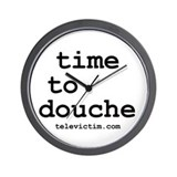 """time to douche"" Wall Clock"