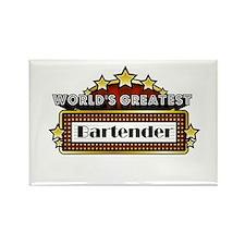 World's Greatest Bartender Rectangle Magnet