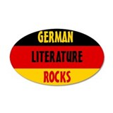 German Lit Rocks Wall Decal