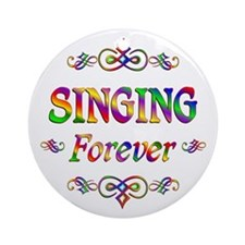 Singing Forever Ornament (Round)