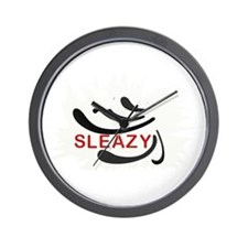 Sleazy Logo Wall Clock