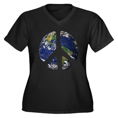 World Peace Plus Size V-Neck Shirt