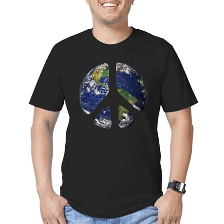World Peace Men's Fitted T-Shirt (dark)