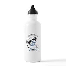 B/W Shih Tzu IAAM Water Bottle