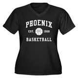 Phoenix Basketball Women's Plus Size V-Neck Dark T
