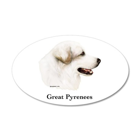 Great Pyrenees 35x21 Oval Wall Decal