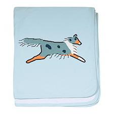 Blue Merle Sheltie baby blanket