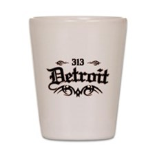 Detroit 313 Shot Glass