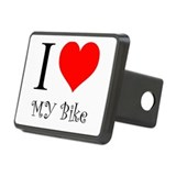 I Love my bike Rectangular Hitch Cover