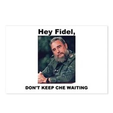 Hey Fidel, Don't Keep Che Waiting Postcards (Packa