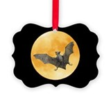 Bat Squirrel Moon Picture Ornament