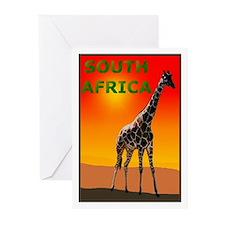 Giraffe South Africa Greeting Cards (Pk of 10)