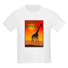 Giraffe South Africa Kids T-Shirt