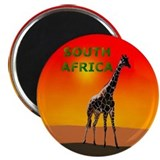 Giraffe South Africa Magnet