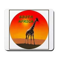 Giraffe South Africa Mousepad