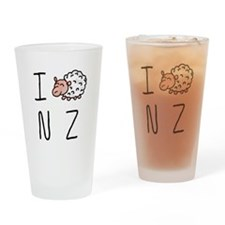 I Heart NZ - Cute Sheep Drinking Glass