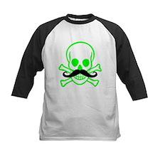 Green Mustache Skull Tee