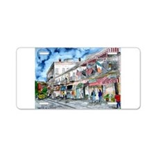 savannah river street painting Aluminum License Pl