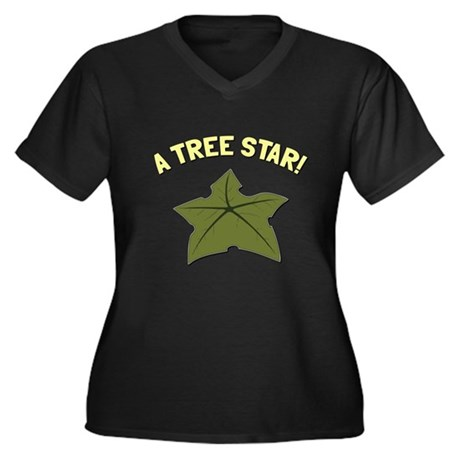 A Tree Star! Plus Size V-Neck Shirt