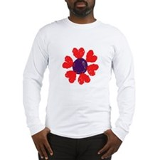 Heart Flower Long Sleeve T-Shirt