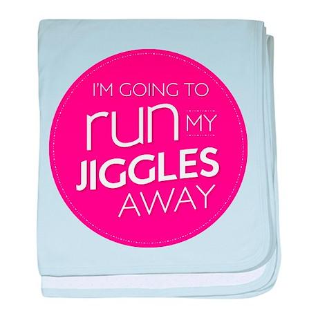 run my jiggles away baby blanket