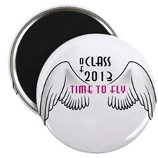 "Class of 2013 Time to Fly Pink 2.25"" Magnet ("
