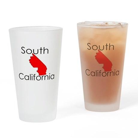 South California Red State Drinking Glass