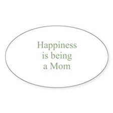 Happiness is being a Mom Oval Decal