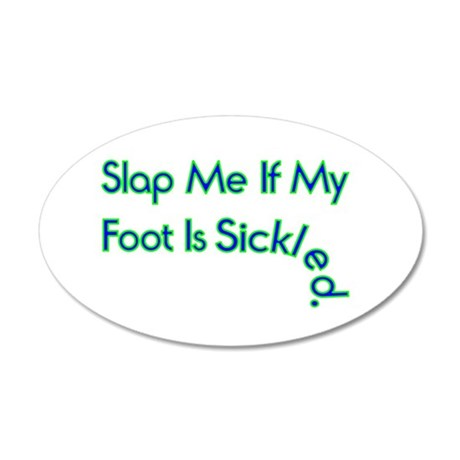 Sickled Foot 20x12 Oval Wall Decal
