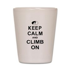 Keep Calm and Climb On Shot Glass