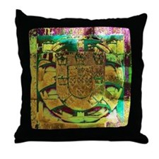 Portugal Emblem Art Throw Pillow