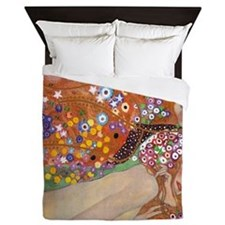 Gustav Klimt Water Serpents Queen Duvet