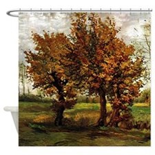 Van Gogh Autumn Landscape Shower Curtain