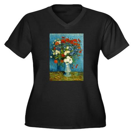 Van Gogh Cornflowers And Poppies Women's Plus Size