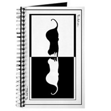 black & white cat art personal journal