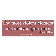 """Social Ignorance"" Bumper Bumper Sticker"