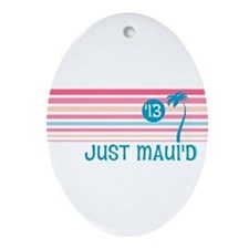 Stripe Just Maui'd '13 Ornament (Oval)